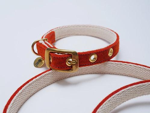 "Halsband ""Toni"" aus Wollfilz - rostrot"