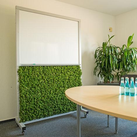 Multigreenboard, Whiteboard mit Moos, Moosraumteiler, Moos-Raumteiler, Islandmoos