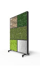 Raumteiler aus Moos und natürlichem Materialien, Kugelmoos, Islandmoos, Moosraumteiler