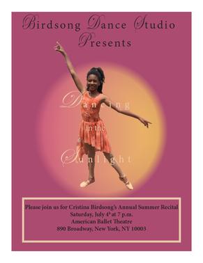 Dance Recital Flyer