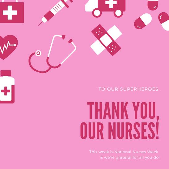 National Nurses Week Social Media Post