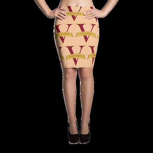 Vinaro Women Pencil Skirt Nude
