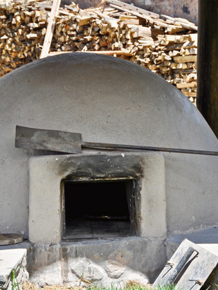 Our traditional wood-fired oven