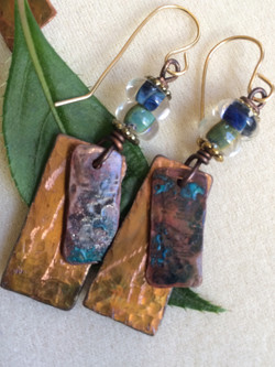 hand patinated copper
