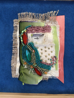 fiber & bead mezuzah