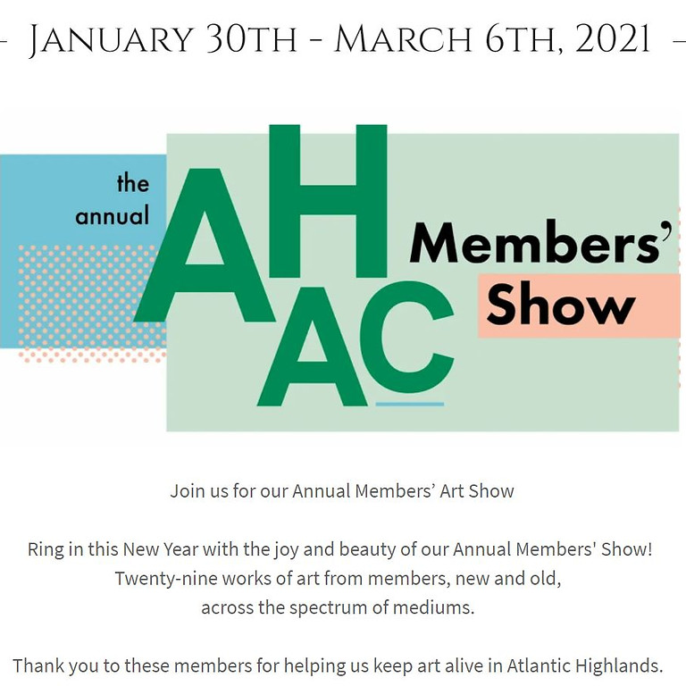 Members Exhibition at Atlantic Highlands Art Council Gallery
