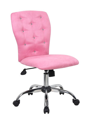 Tiffany Microfiber Chair-Pink