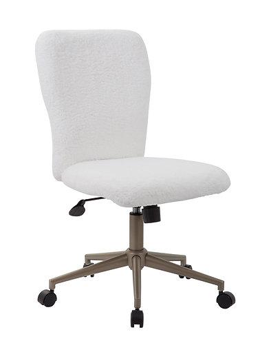 Tiffany White Fur Chair - Gold