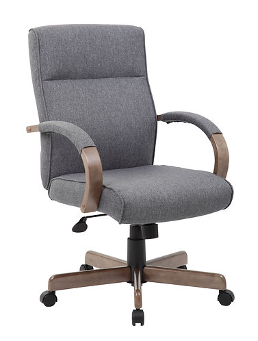 Boss Modern Executive Conference Chair - Slate grey w/Driftwood