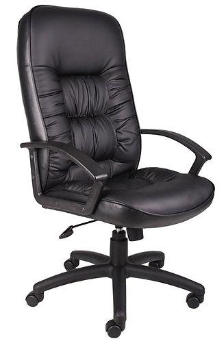Boss High Back LeatherPlus Chair W/ Knee Tilt