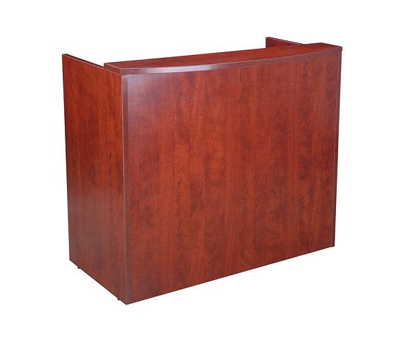 Glazed Reception Desk, 48Wx26Dx41.5H Cherry