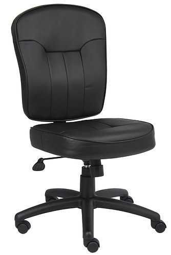 Boss Black Leather Task Chair