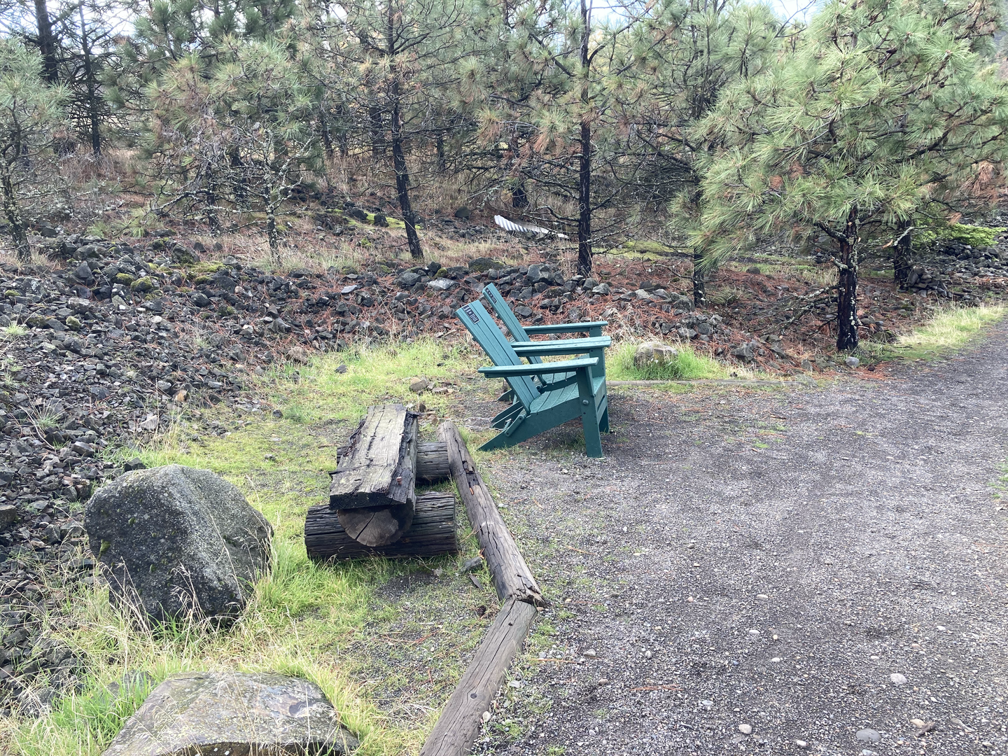 Columbia River Green Chairs