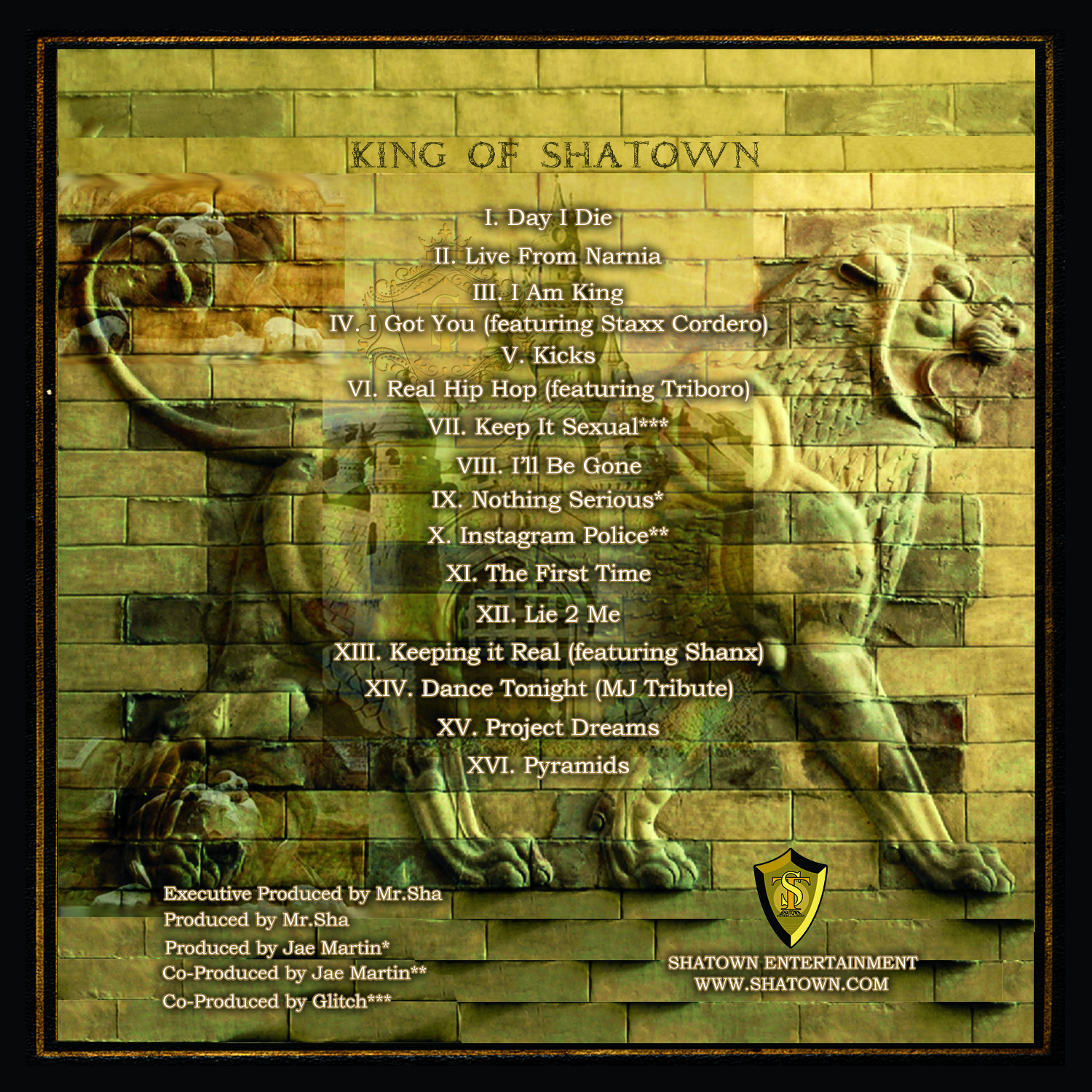 Mr.Sha King of Shatown CD back cover