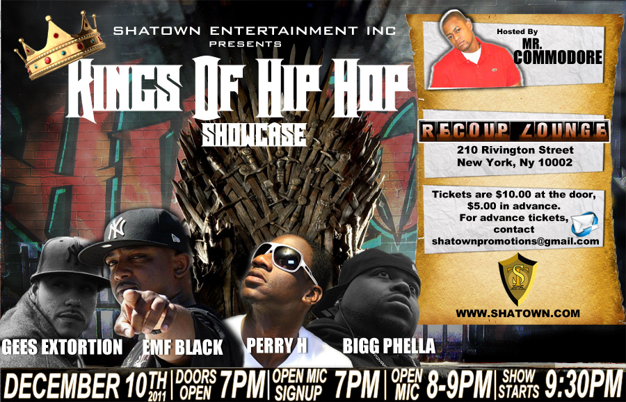 Kings of Hip Hop showcase flyer