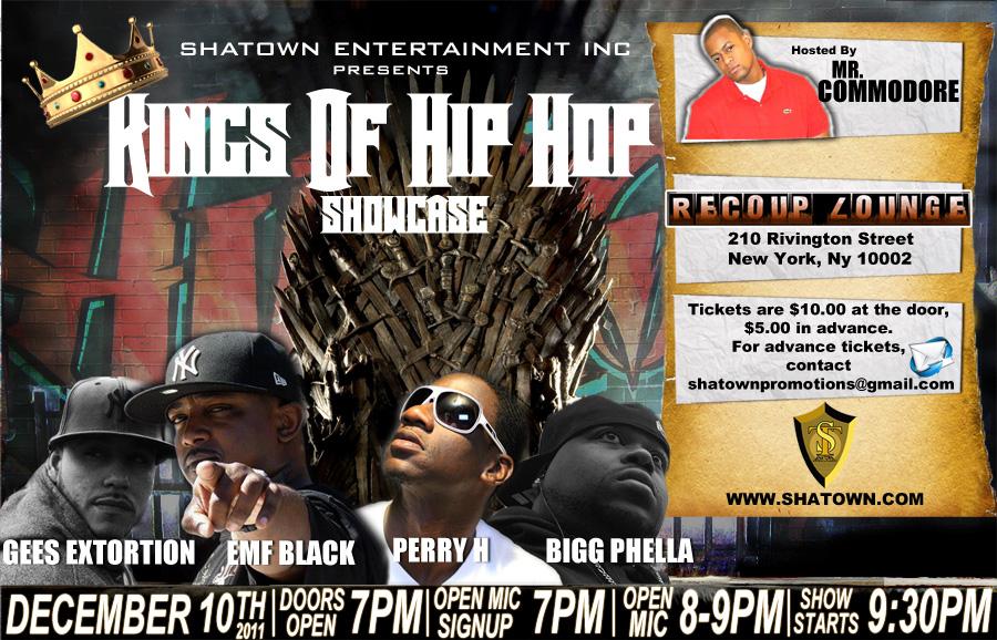 Kings of Hip Hop showcase flyer