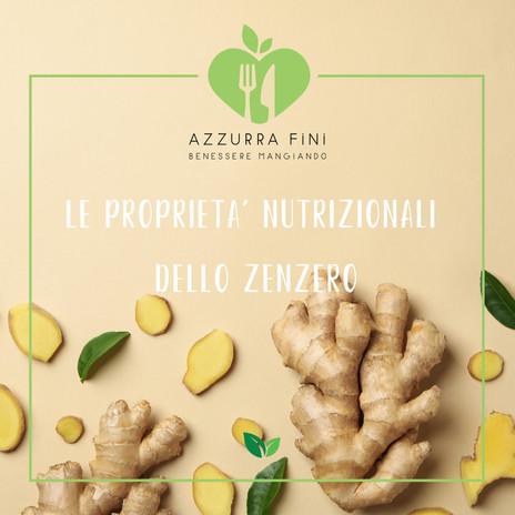 Le proprietà nutrizionali dello zenzero