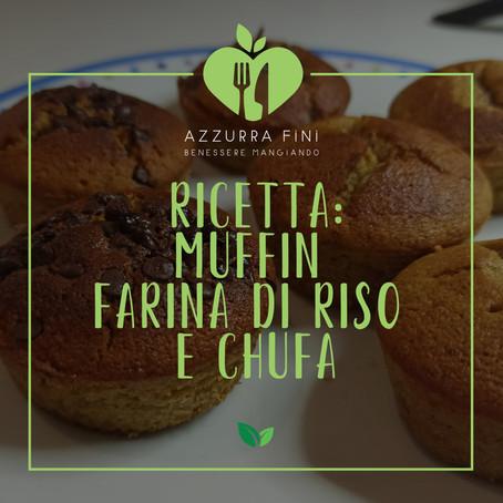 ricetta: muffin farina di riso e chufa