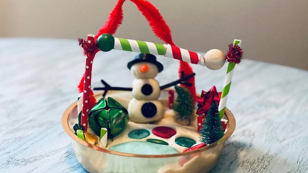 """""""Do you wanna build a snowman? """" Festive Holiday- Play Dough Kit"""