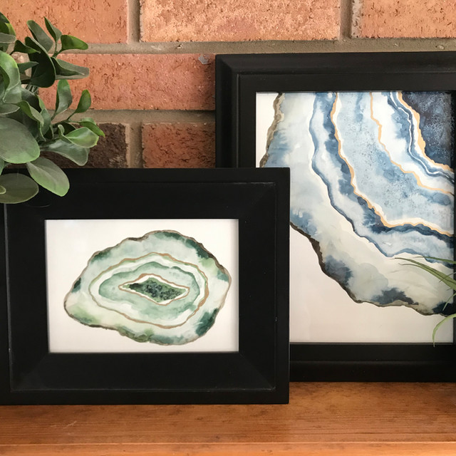 Watercolor Geodes