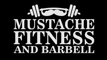 Mustache Fitness and Barbell Logo