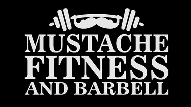Mustache Fitness and Barbell Gym Logo