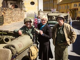 Vzpomínková slavnost u příležitosti oslav konce 2. světové války a osvobození (Hostouň)