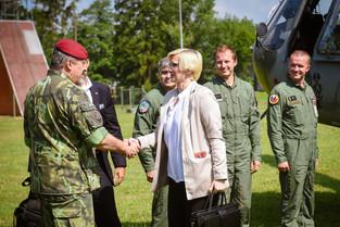 Návštěva 7. mechanizované brigády v Hranicích