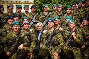 Slavnostní vojenská přísaha příslušníků kurzu Základní přípravy (Vyškov,3.5.2018)