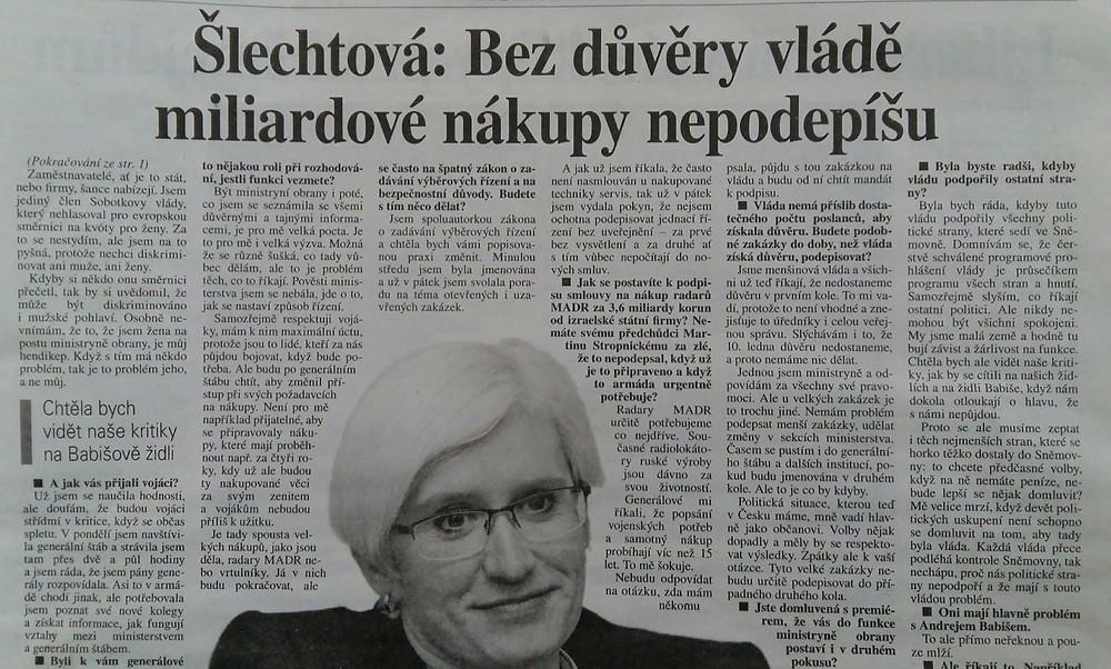 Karla Šlechtová, Novinky.cz