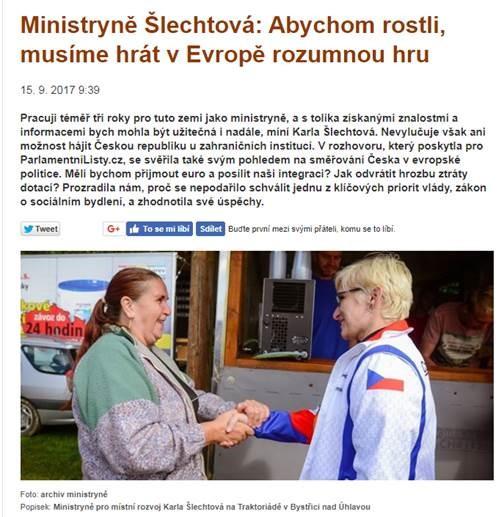 Karla Šlechtová, rozhovor, Parlamentní listy