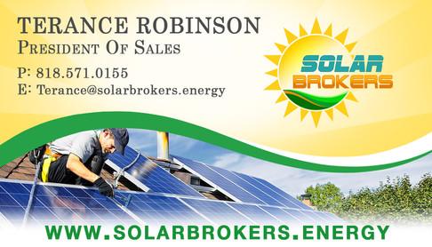 Solar Brokers Bus Card - Terance Robinso