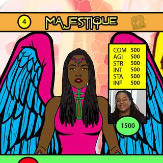 Ms Daniels Majestique Card