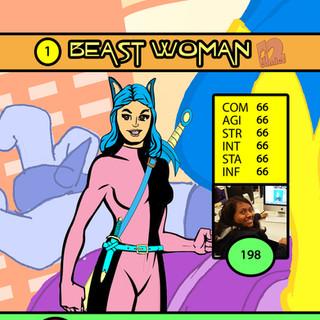 Zoey Beast Woman Card