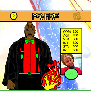 Mr Griffin Mr Fire Card