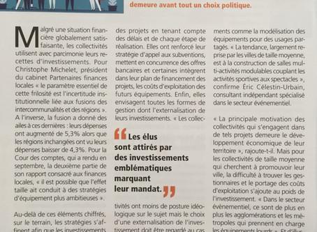 Interview d'Eric Celestin-Urbain EPL Conseil sur les investissements publics évènementiels