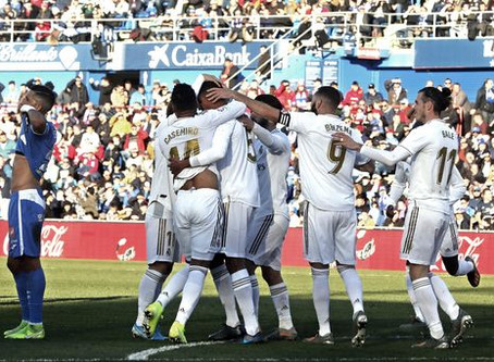 Le Real Madrid s'en sort bien à Getafe