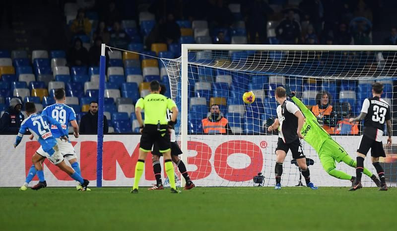 Resultat Naples Juventus 2-1 Serie A