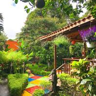 Restaurante con jardines