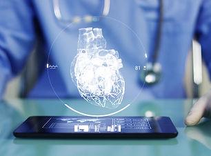 A physician, surgeon, examines a technol