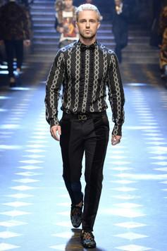 Dolce & Gabbana runway show during Milan Men's Fashion Week Fall/Winter 2017/18
