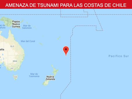 AMENAZA DE TSUNAMI PARA LAS COSTAS DE CHILE