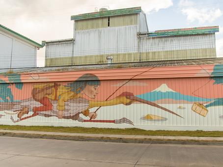 Frutillar inaugura mural de arte urbano en el edificio de la ex Cafra