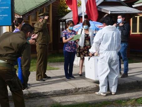 Llegan a Frutillar las primeras 1.584 vacunas Sinovac