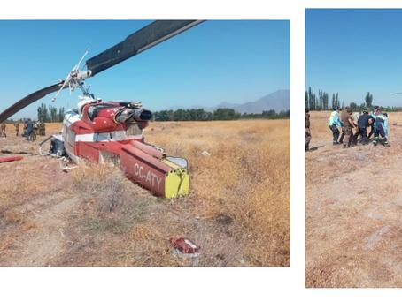 Personal de la Brigada de Aviación Ejército rescata a piloto de un accidente deHelicóptero