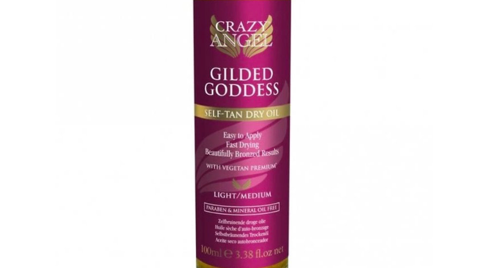 Crazy Angel Gilded Goddess Self Tan Dry Oil