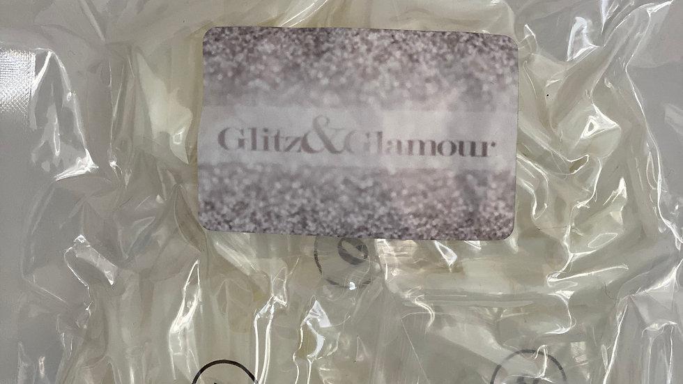 500x Glitz & Glamour Artificial French False Acrylic Nail Art Tips