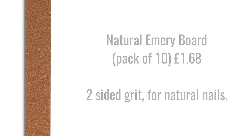 Natural Emery Board (pack of 10)