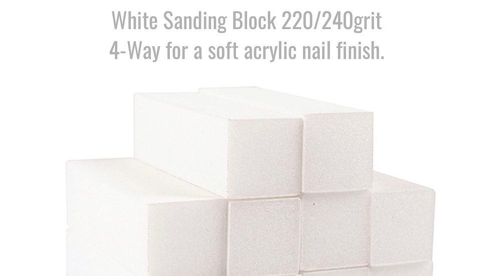 Glitz & Glamour White 220/240 grit Sanding Block
