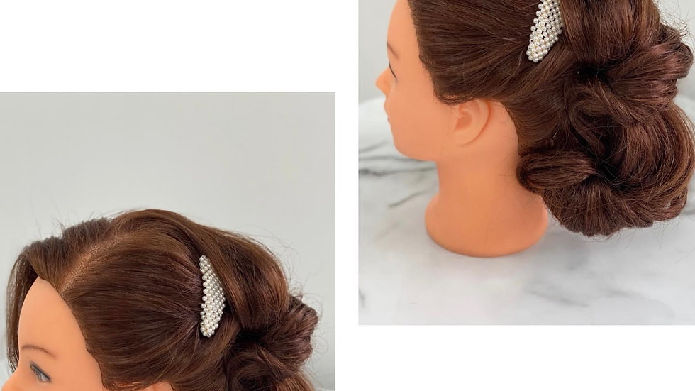 Large Full Coverage Pearl Hair Clip